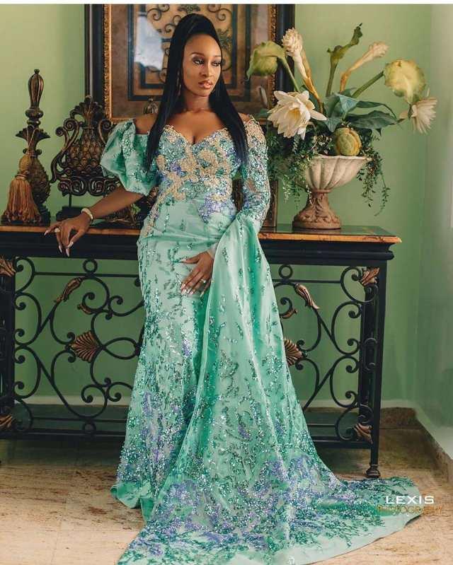 1601722676 450 Latest Asoebi Styles 2020 Stunning Lace Styles For Beautiful Ladies